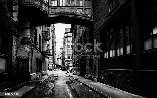 istock New York City - alley in Tribeca district 1138274491