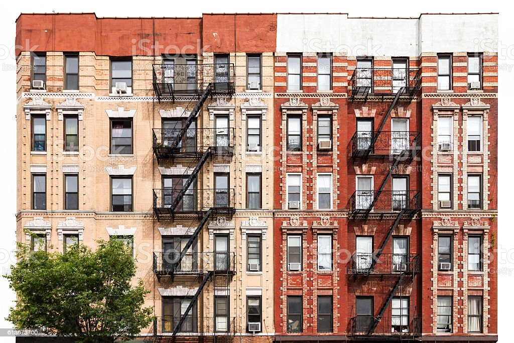 New York City Apartment Building in the East Village stock photo