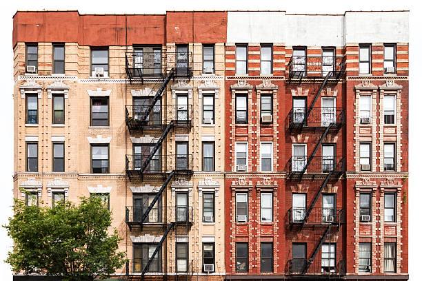 New York City Apartment Building in the East Village stok fotoğrafı
