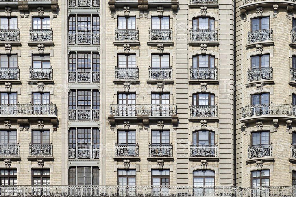 \'Apartment building detail in Manhattan, New York City\'