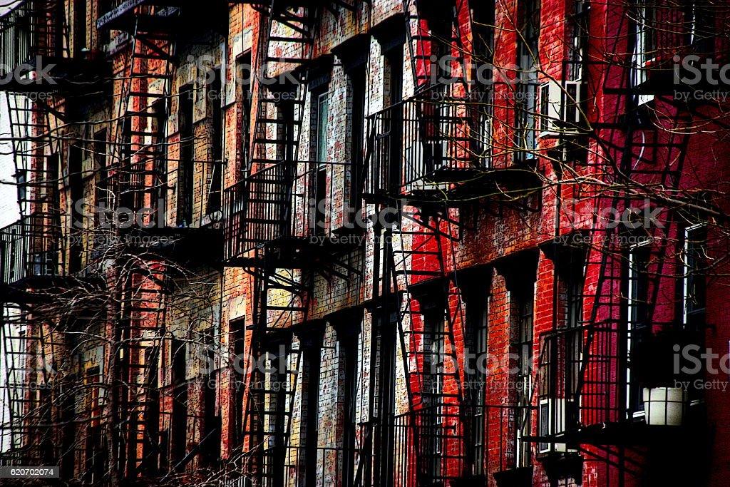 New York City Apartment Building stock photo