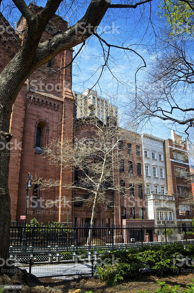 New York City, Architectural contrasts cityscape, Greenwich Village Manhattan royalty-free stock photo