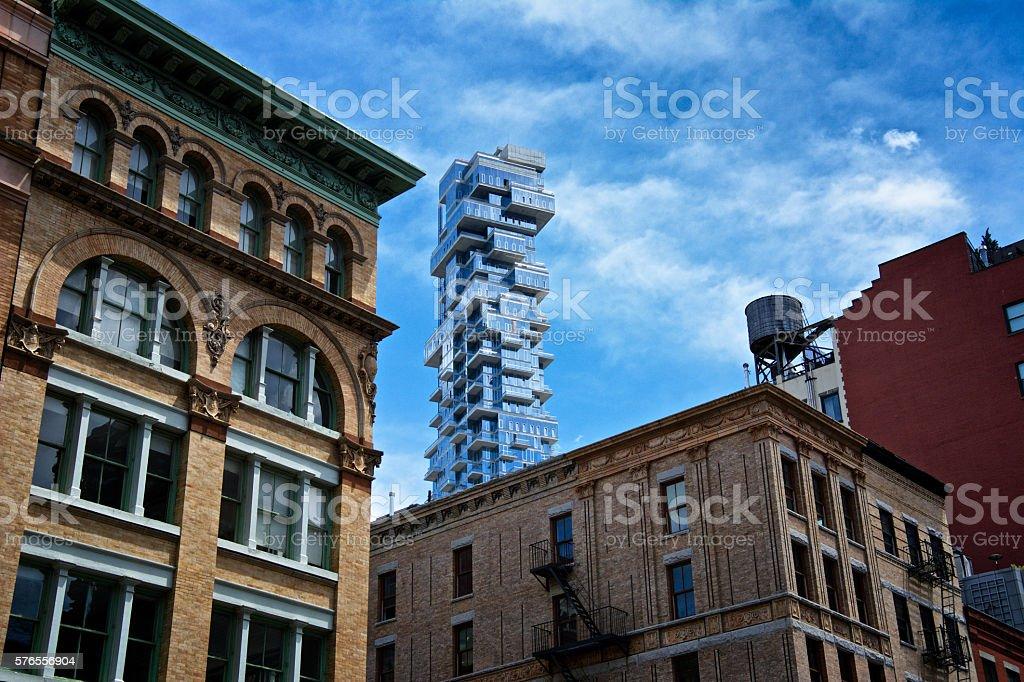 new york city architectural contrasts styles eras tribeca manhattan