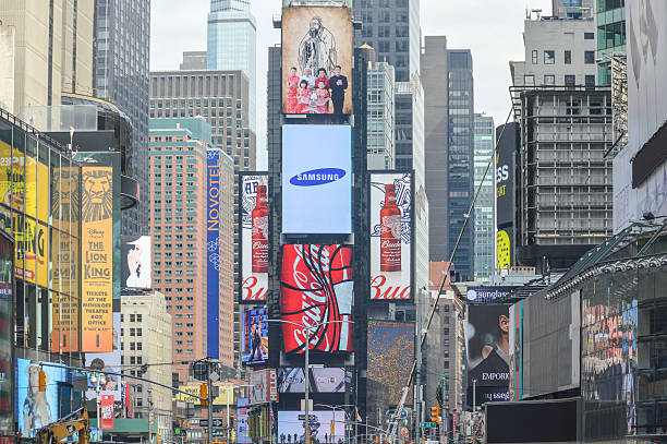 new york city architecture - times square - mamma mia stock photos and pictures