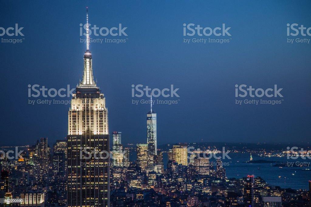 New York City at night stock photo