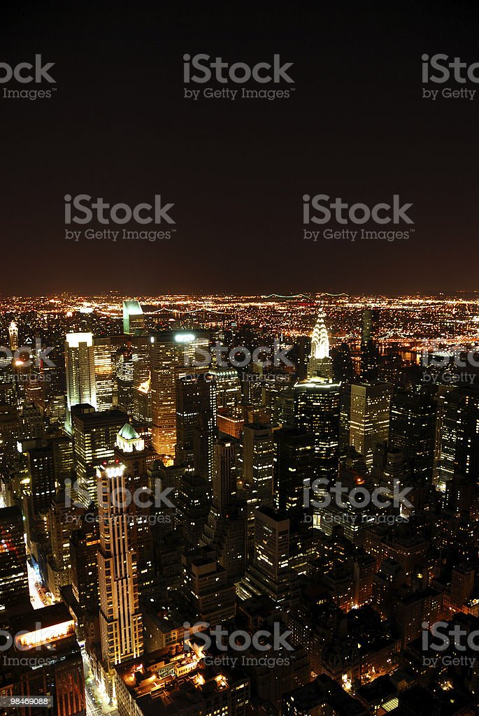New York City at night royalty-free stock photo