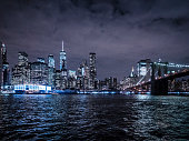 New York City at night View from Brooklyn