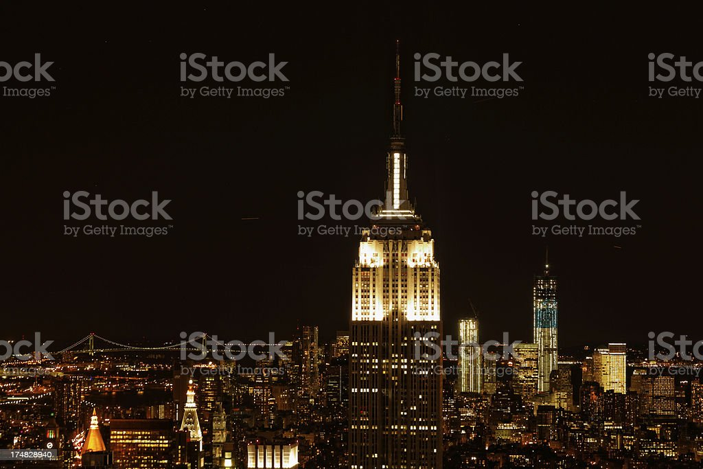 New York city at night XXXL stock photo