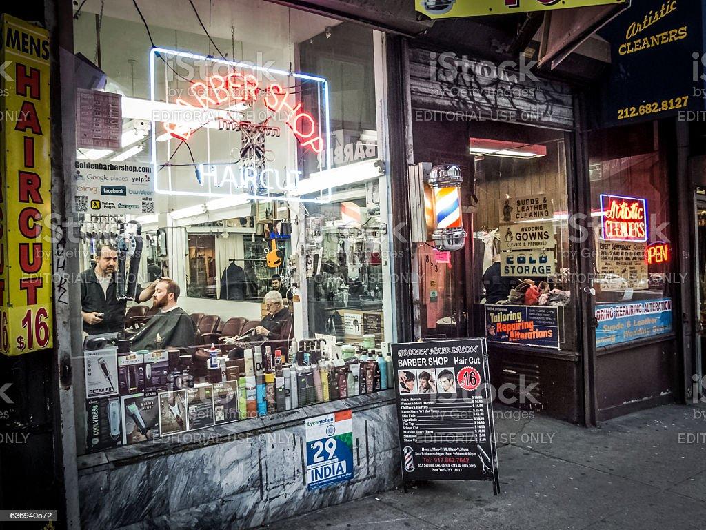 New York City Barber Shop stock photo