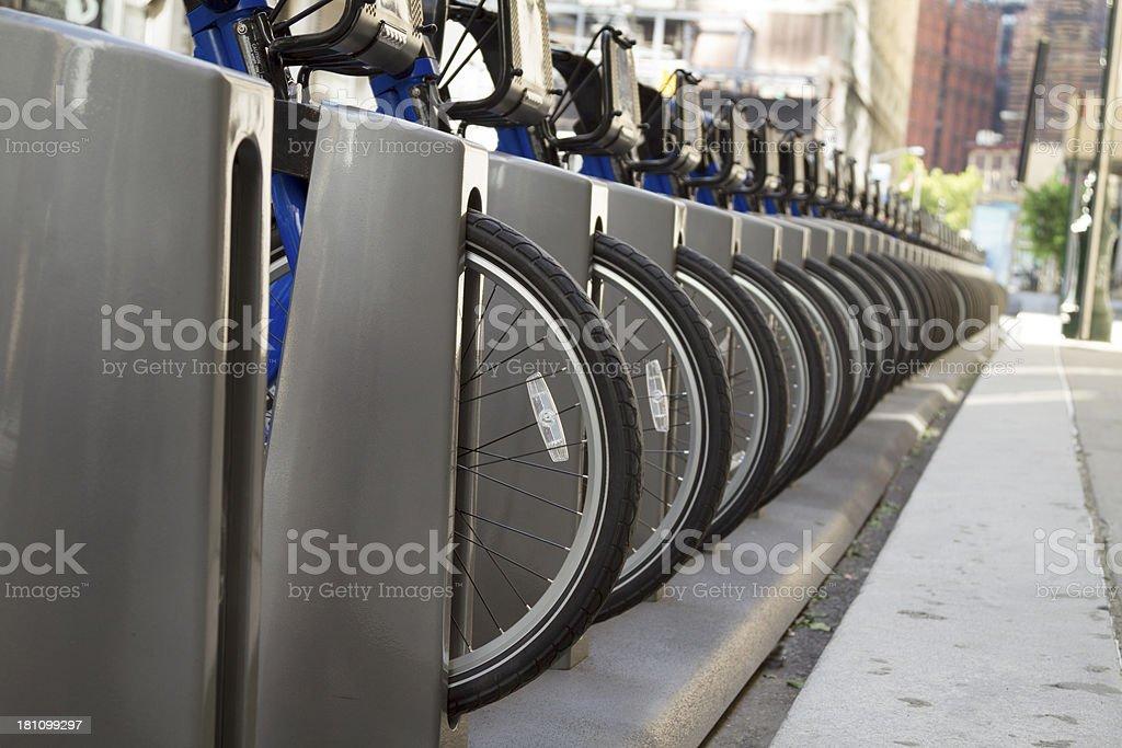 New York City Bike Share Kiosk royalty-free stock photo