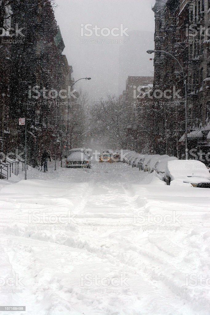 new york city blizzard royalty-free stock photo