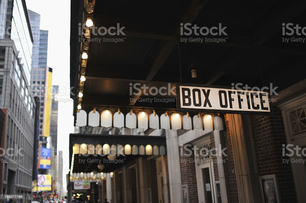 New York City Box Office stock photo
