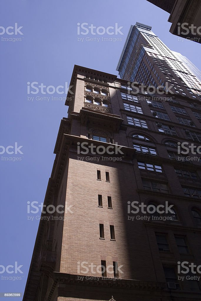 New York City Brick Skyscraper royalty-free stock photo