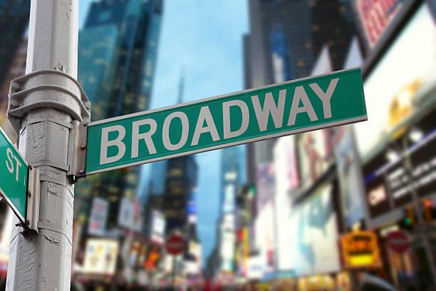 Da cidade de Nova York luzes da Broadway - foto de acervo