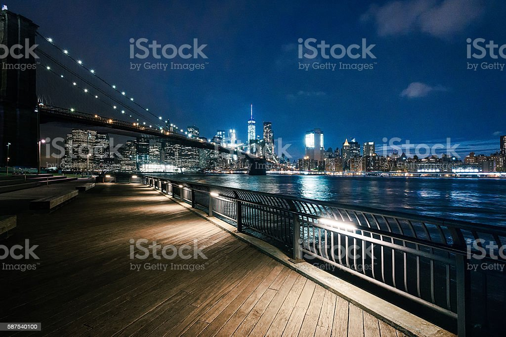 New York City - Brooklyn Bridge Park stock photo