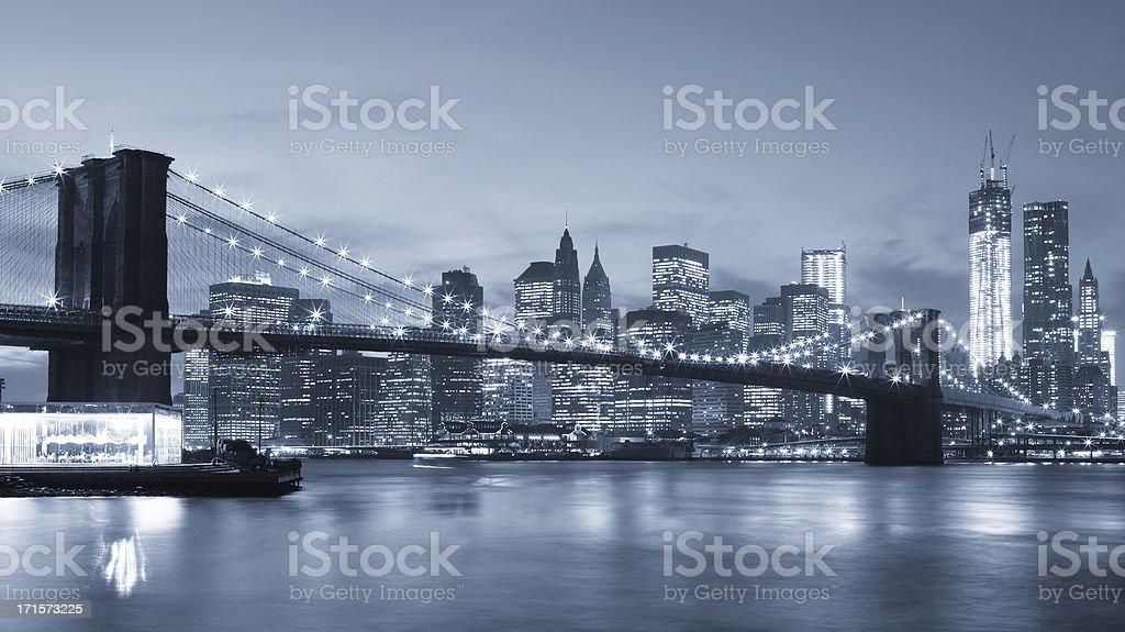 New York City: Brooklyn Bridge stock photo
