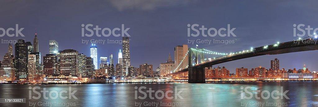 New York City Brooklyn Bridge royalty-free stock photo