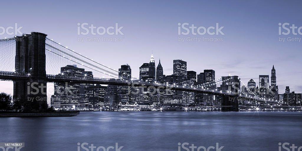 New York City - Brooklyn Bridge stock photo