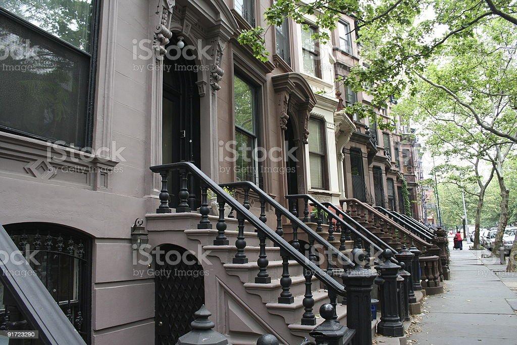 New York City Brownstones royalty-free stock photo