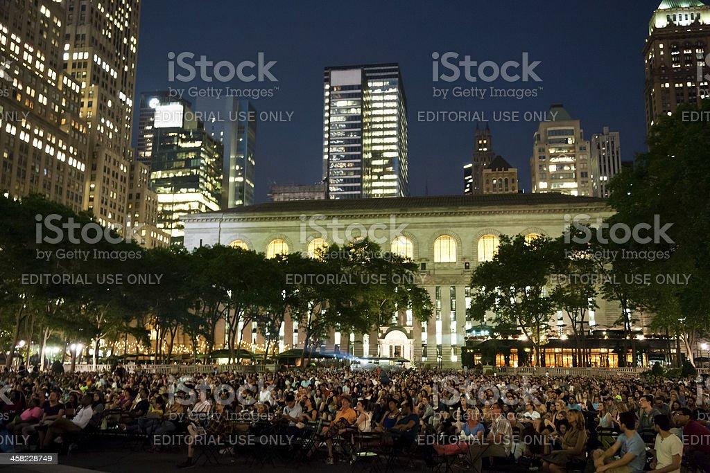 New York City Bryant Park stock photo