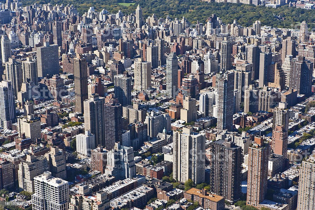 new york city buildings from above royalty-free stock photo