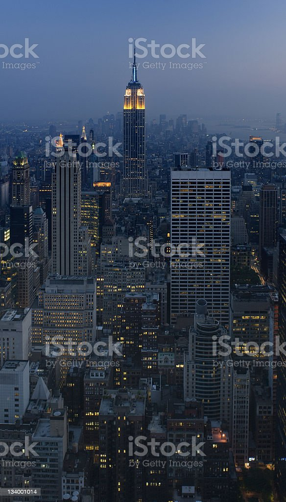 New York City by night royalty-free stock photo