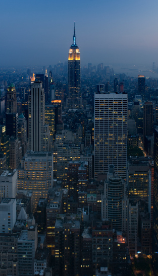 New York City By Night Stock Photo - Download Image Now