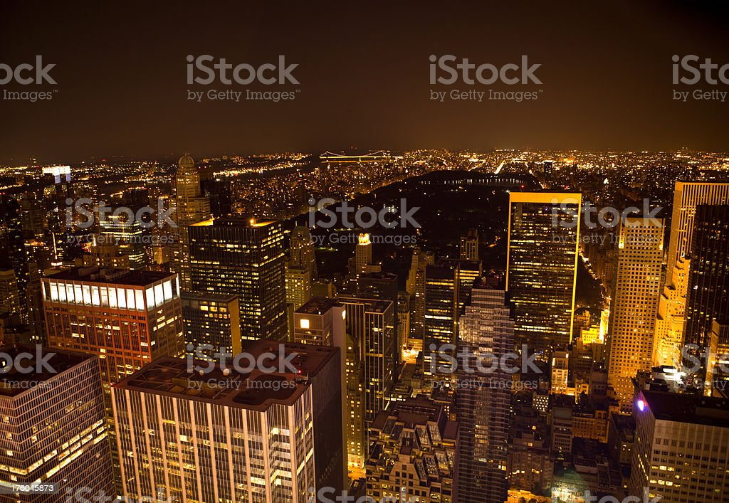 New York City by night stock photo