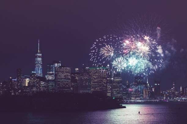 new york city fest - new york new year stock-fotos und bilder