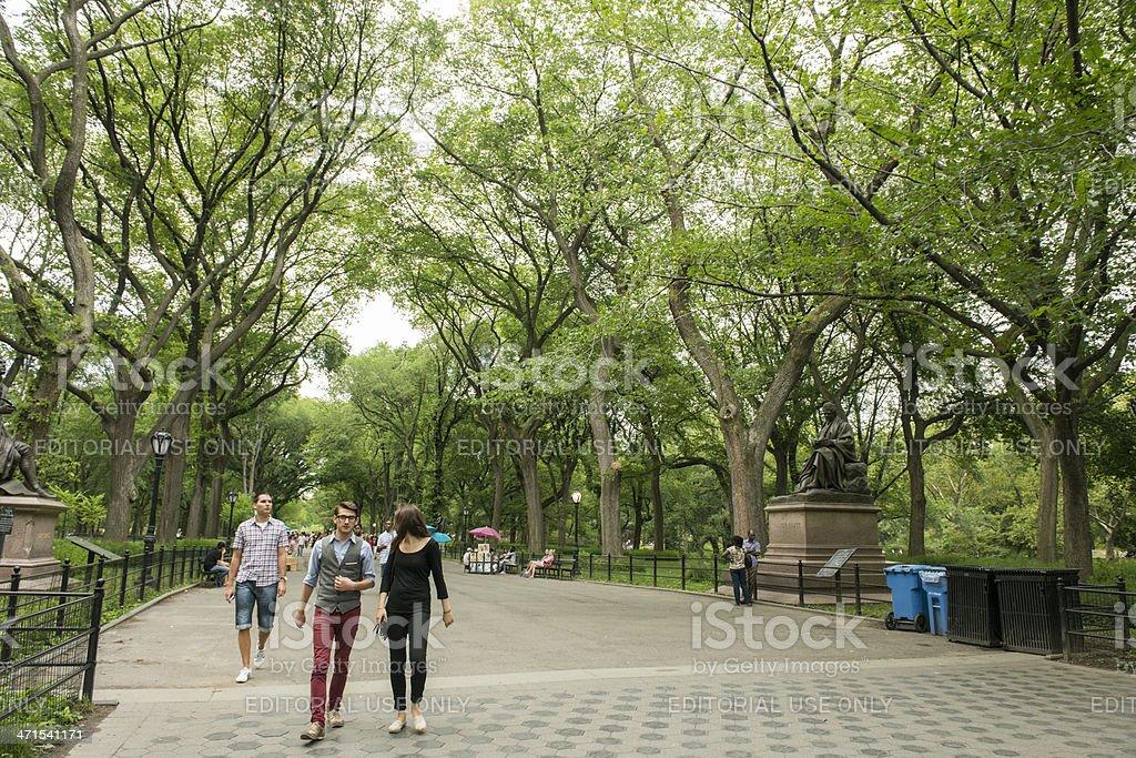 New York City Central Park Mall Promenade royalty-free stock photo