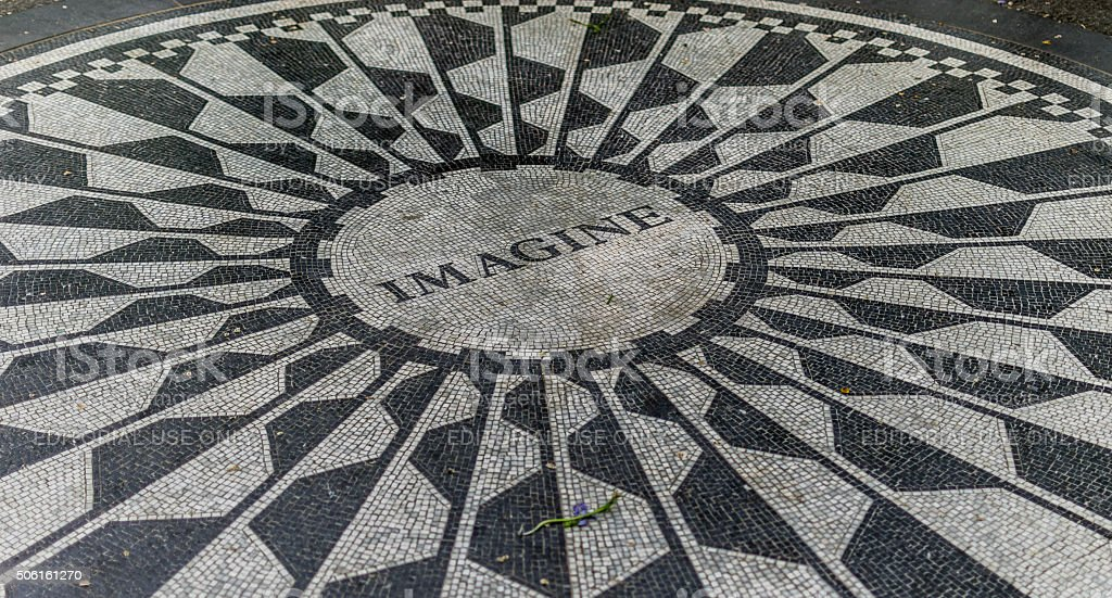New York Central Park Strawberry Fields imaginar - foto de stock
