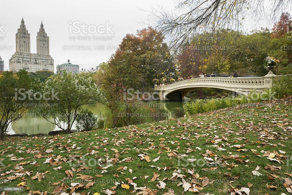 New York City Central Park West in Autumn stock photo