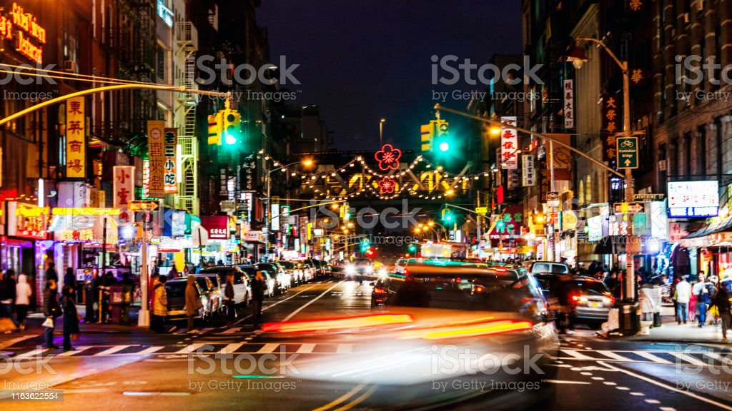 New York City Chinatown By Night Stock Photo Download Image Now Istock