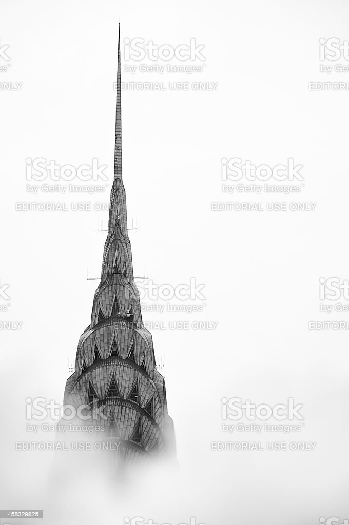 New York City Chrysler Building Stands Above Steam Clouds stock photo