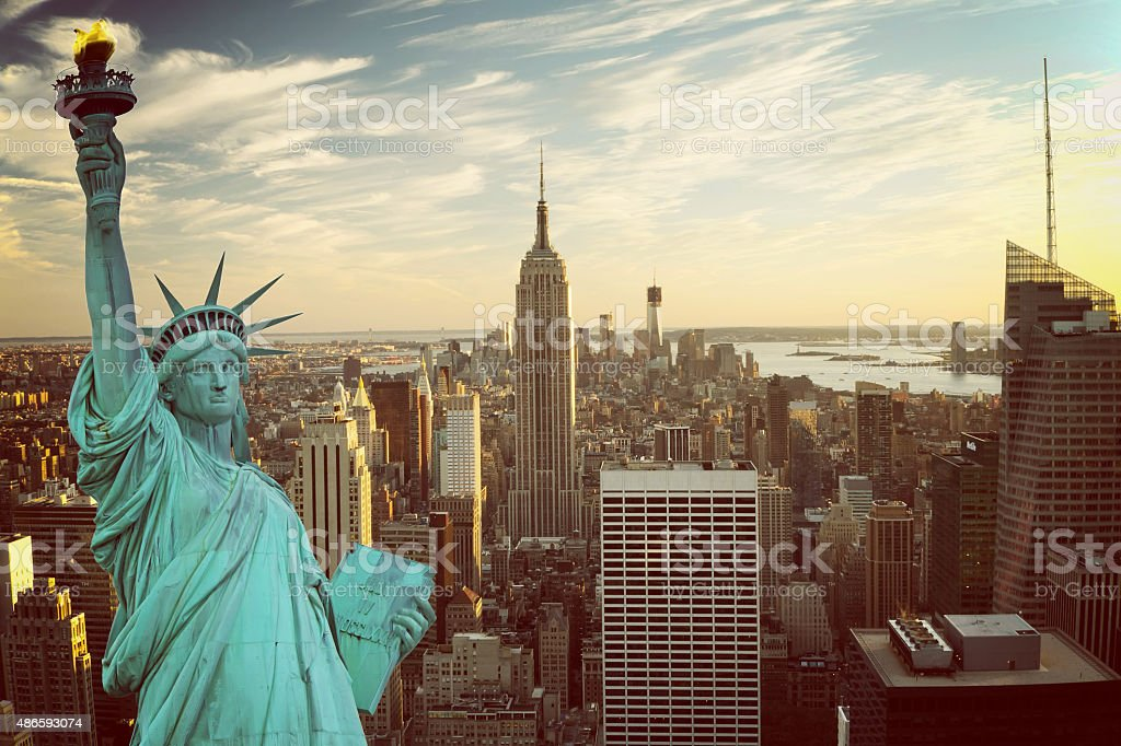 New York City collage stock photo