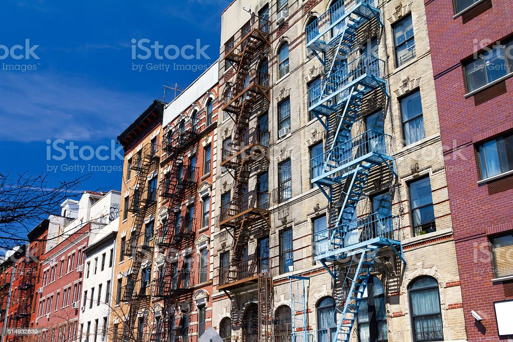 New York City Colorful Buildings in Manhattan stock photo