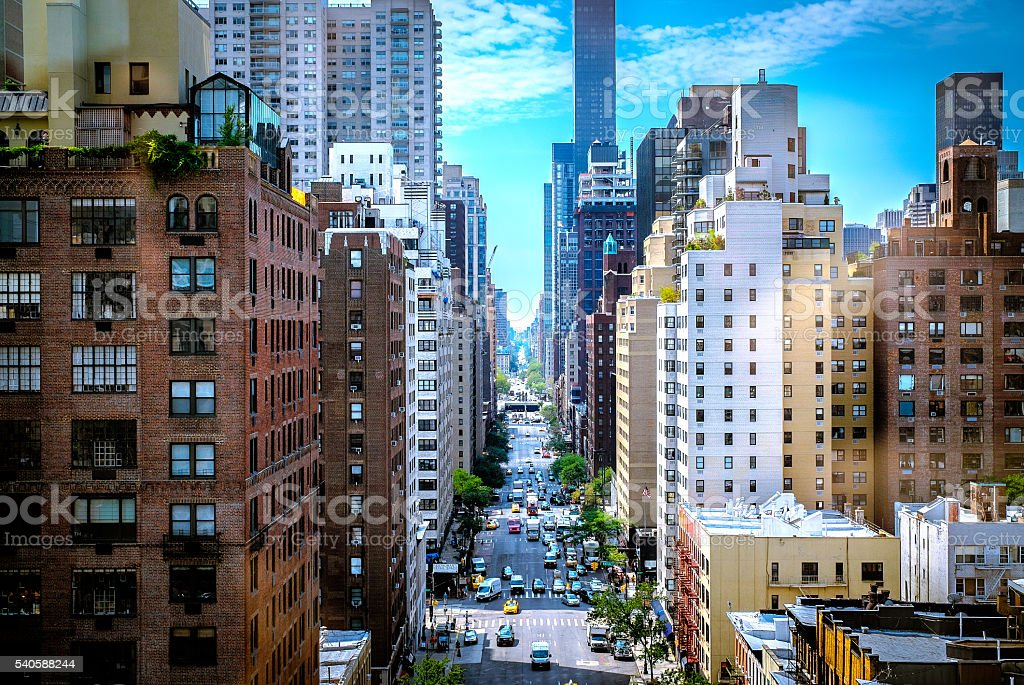 New York City - Colorful Street Canyon royalty-free stock photo