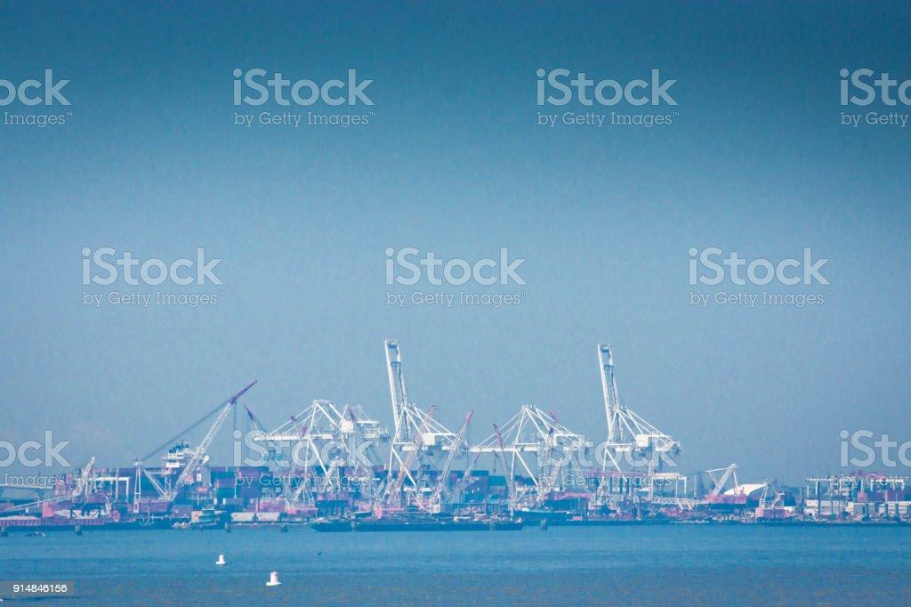 New York City container port stock photo