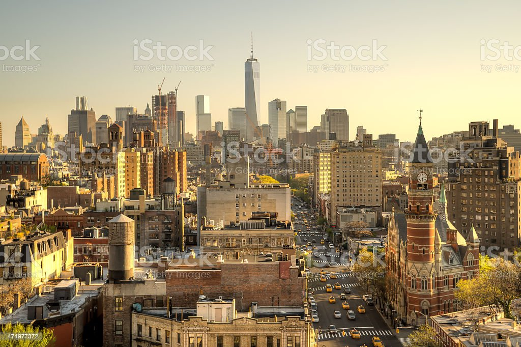 New York City Day Skyline stock photo