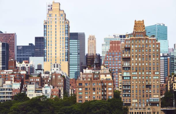 New York City diverse architecture, USA. stock photo