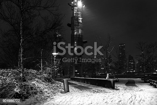 istock New York City during the winter storm. View of Gantry Park in Long Island City. 924986722
