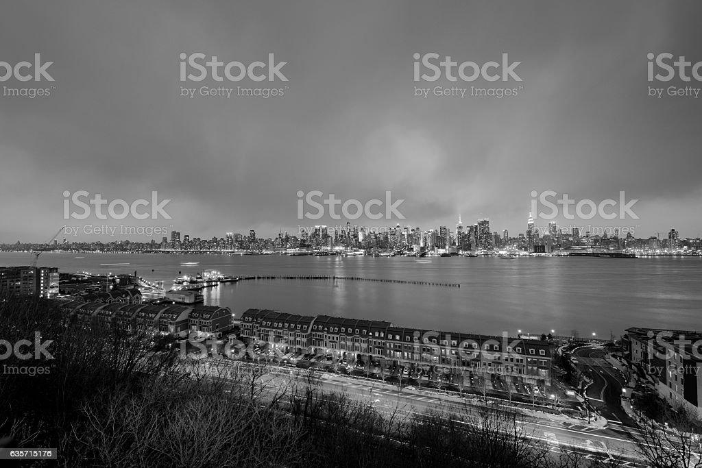 New York City evening royalty-free stock photo