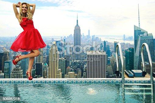 istock NEW New York City Fashion Model 506587318