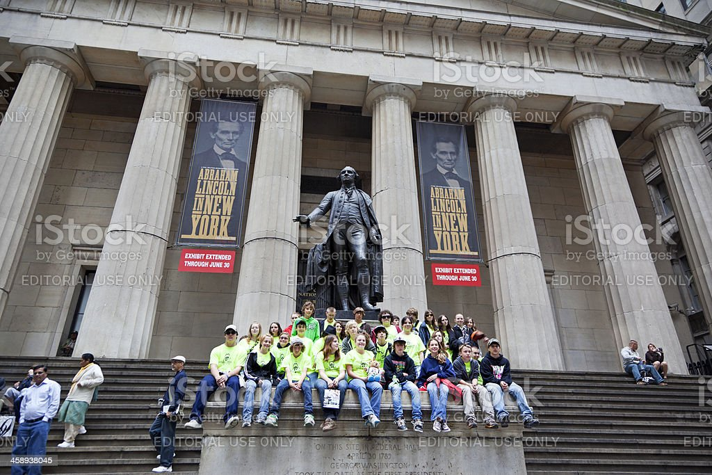 New York City Federal Hall royalty-free stock photo