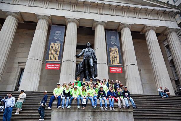 New York City Federal Hall stock photo