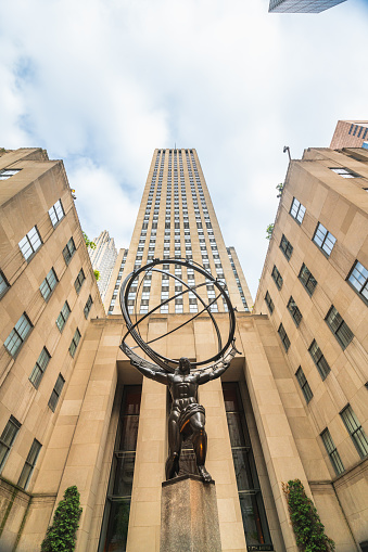 istock New York City, Fifth Avenue, Rockefeller Plaza.The Statue of Atlas in front of the Rockefeller Center in New York City 1160907496