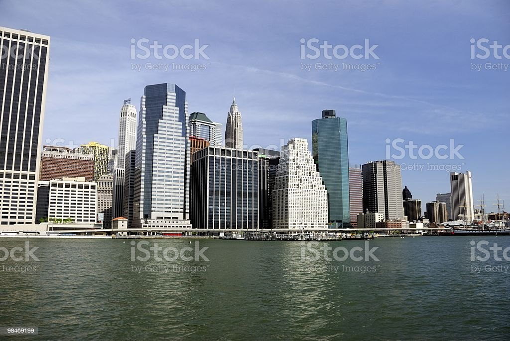 New York City financial district royalty-free stock photo
