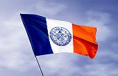 istock New York city flag with ripple effect illustration 1216428490