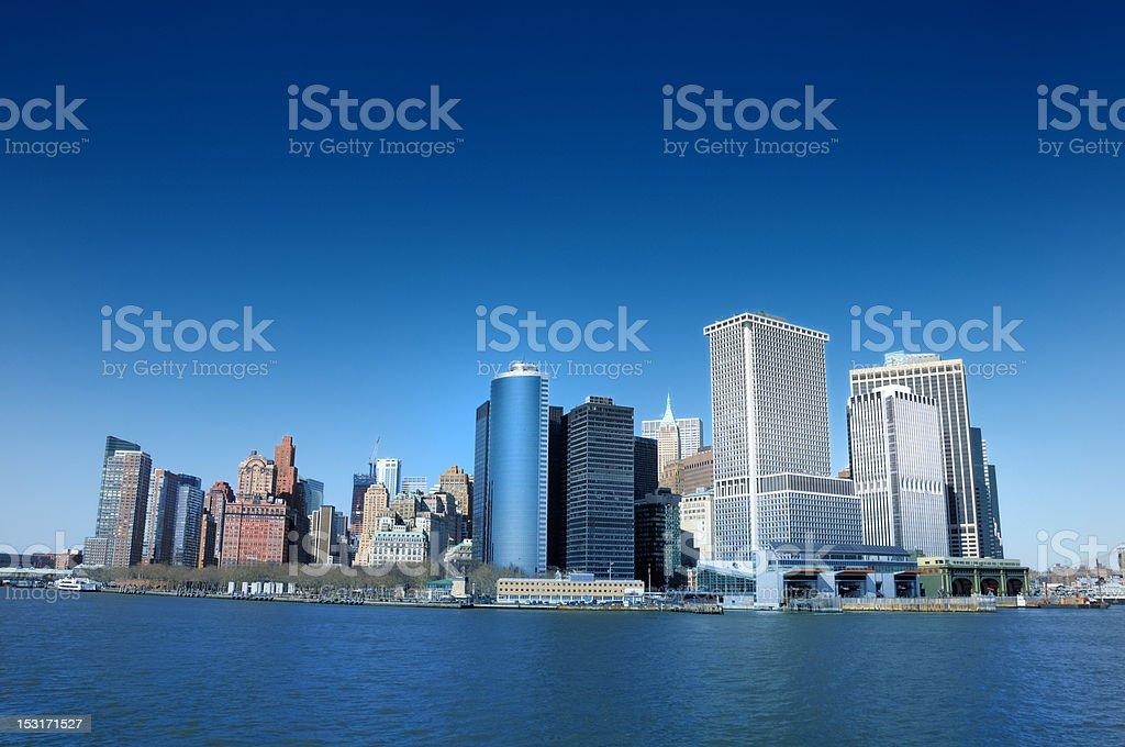 New York City From Long Island royalty-free stock photo