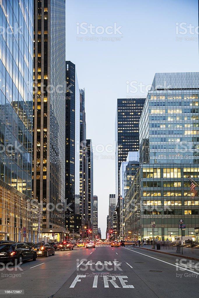 New York City from Street Level royalty-free stock photo